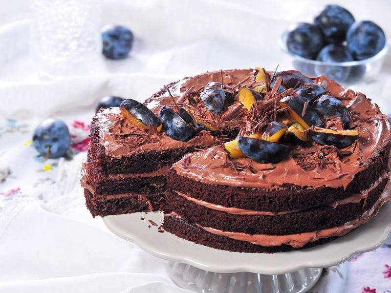 szilvás csokoládé torta