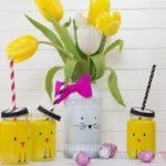 Húsvéti dekoráció saját kezűleg #1 – Nyuszis váza és csibés pohár