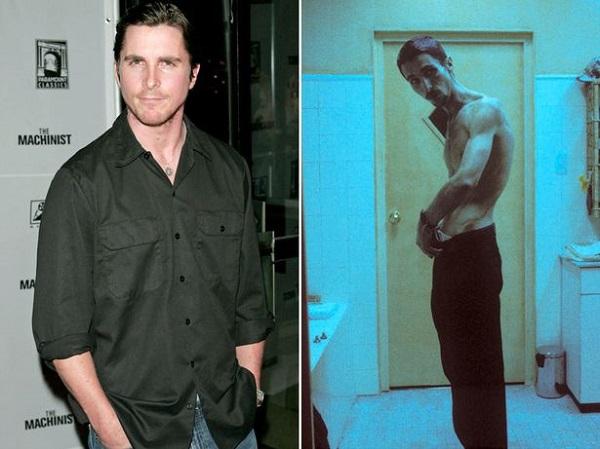 Christian Bale 28 kg-tól szabadult A gépész (2004) című film főszerepének kedvéért. A npi menüje egy csésze kávé és egy alma, esetleg egy tonhal knzerv volt.