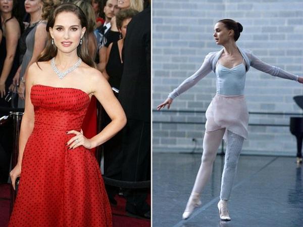 Natalie Portman 9 kg-t fogyott és napi 5 órát edzett a Fekete hattyú (2010.) balerinájának szerepéért.