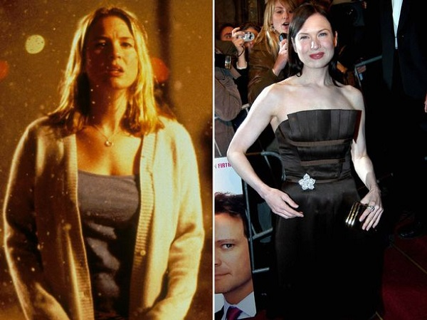 Renee Zellweger 13 kg-mal gyarapodott Bridget Jones kedvéért 2001-ben. A hízókúra alatt rengeteg fagylaltot evett.