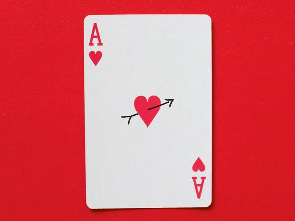 Conceptual shot of cupids arrow