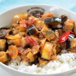 Padlizsános lecsó rizzsel: 30 perc és kész!