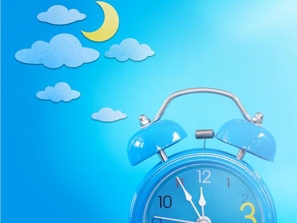Alarm clock and paper craft, Night Sky