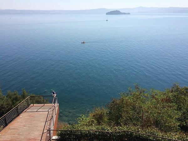A Bolsena tó két szigete közül egyik