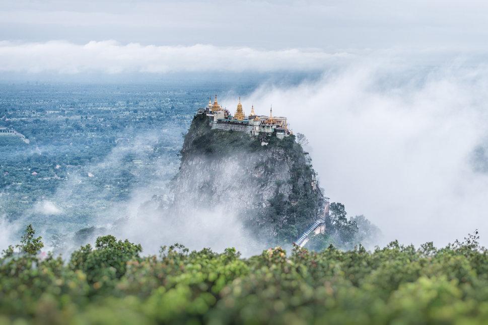 Mount Popa the mystery mountain in bagan ,myanmar