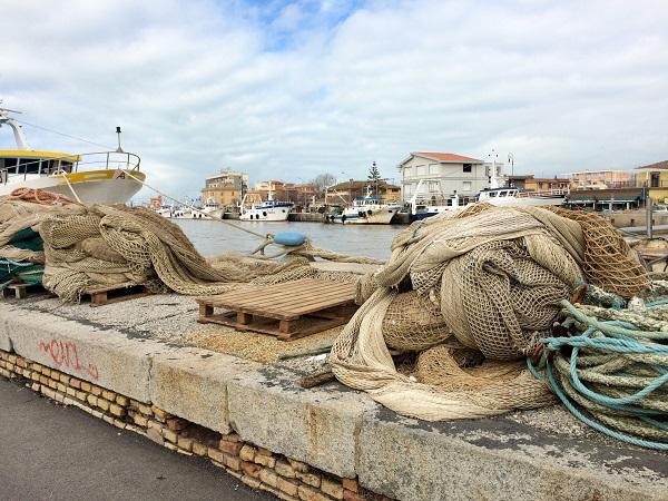 Fiumicino - Itt javítják a halászok a hálókat