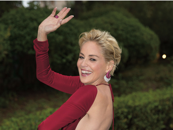 CAP D'ANTIBES, FRANCE - MAY 22:  Sharon Stone attends amfAR's 21st Cinema Against AIDS Gala Presented By WORLDVIEW, BOLD FILMS, And BVLGARI at Hotel du Cap-Eden-Roc on May 22, 2014 in Cap d'Antibes, France.  (Photo by Kevin Tachman/amfAR14/WireImage)