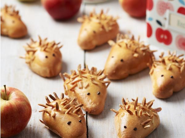 mandulás, almás süni
