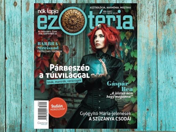 A Nők Lapja Ezotéria 2018/05. lapszáma szeptember 18-án jelenik meg!