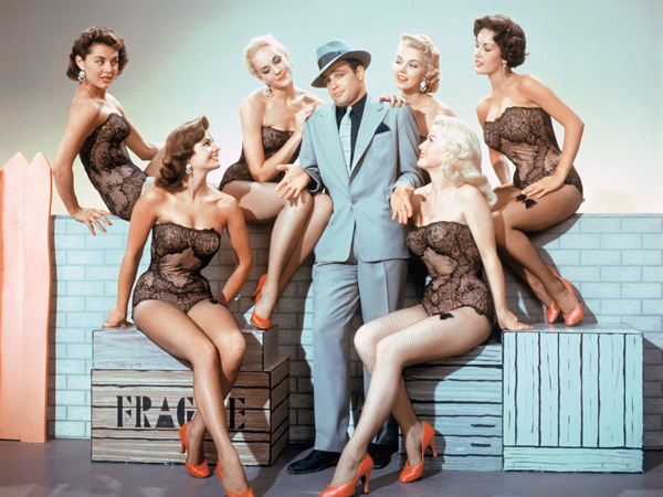 American actor Marlon Brando (1924 - 2004) as Sky Masterson in the musical 'Guys and Dolls', directed by Joseph L. Mankiewicz, 1955. (Photo by Silver Screen Collection/Hulton Archive/Getty Images)