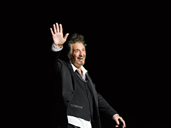 """NEW YORK, NY - APRIL 29:  Al Pacino speaks onstage during the panel for """"The Godfather"""" 45th Anniversary Screening during 2017 Tribeca Film Festival closing night at Radio City Music Hall on April 29, 2017 in New York City.  (Photo by Kevin Mazur/Getty Images for Tribeca Film Festival)"""